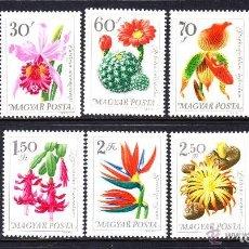 Sellos: HUNGRIA 1965 IVERT 1766/75 *** FLORA - FLORES DIVERSAS DE JARDINES BOTANICOS. Lote 67522725