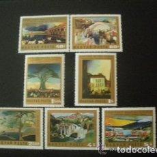 Sellos: HUNGRIA 1973 IVERT 2315/21 *** OBRAS DE TIVADAR CSONTVARY KOSZTKA - PINTURA. Lote 67587561