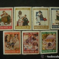 Sellos: HUNGRIA 1981 IVERT 2785/91 *** ILUSTRADORES CELEBRES - ARTE. Lote 67937337