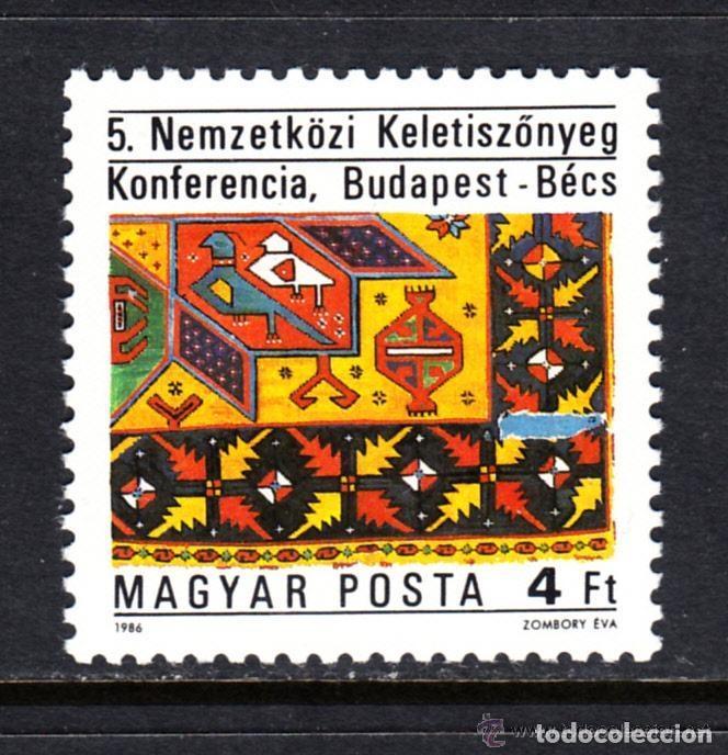 HUNGRIA 1986 IVERT 3052 *** 5ª CONFERENCIA INTERNACIONAL SOBRE TAPICES ORIENTALES (Sellos - Extranjero - Europa - Hungría)