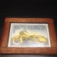 Sellos: SELLO CIRCULADO DE HUNGRIA HARLEY DAVIDSON DUO GLIDE 1200 DE 1960. Lote 68688761