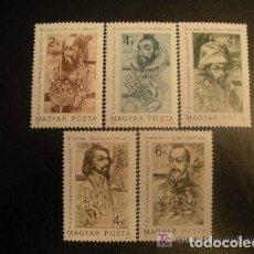 Sellos: HUNGRIA 1987 IVERT 3096/100 *** PIONEROS DE LA MEDICINA - PERSONAJES. Lote 68825077