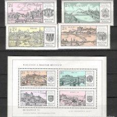 Sellos: HUNGRIA. 1971. EXPOSICIÓN FILATÉLICA INTERNACIONAL DE BUDAPEST. MNH**. HOJA BLOQUE. Lote 70345862