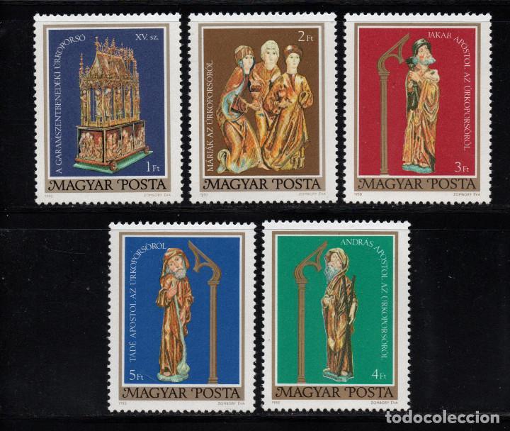 HUNGRIA 2718/22** - AÑO 1980 - ARTE - SEPULCRO DE PASCUA DE GARAMSZENTBENEDEK (Sellos - Extranjero - Europa - Hungría)
