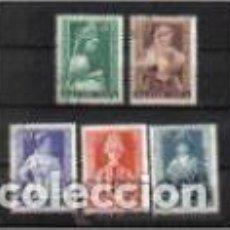 Timbres: TRAJES REGIONALES DE HONGRÍA. EMIT. AÑO 1953. Lote 75089399