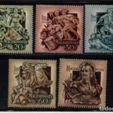 Sellos: HUNGRÍA 1092/96** - AÑO 1953 - 250º ANIVERSARIO DE LA LUCHA POR LA LIBERACIÓN - RAKOCZI II . Lote 75279295