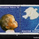 Sellos: HUNGRIA 3054** - AÑO 1986 - AÑO INTERNACIONAL DE LA PAZ. Lote 160646870