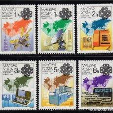 Sellos: HUNGRIA 2875/80** - AÑO 1983 - AÑO MUNDIAL DE LAS COMUNICACIONES. Lote 211441839