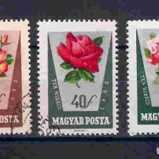 Sellos: FLORES DE HUNGRÍA. SELLOS AÑO 1962. Lote 210973032