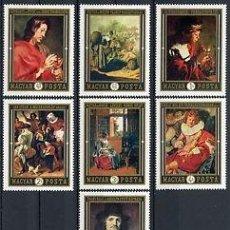 Sellos: HUNGRIA 1969 IVERT 2083/9 *** CUADROS HOLANDESES (VII) - PINTURA. Lote 90035860