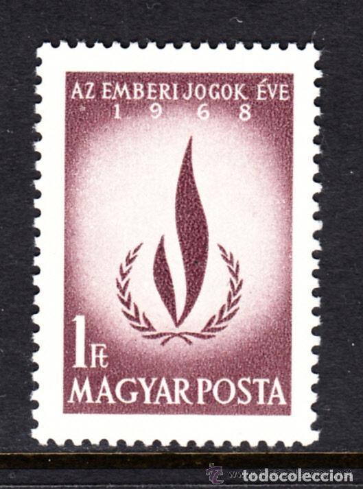 HUNGRIA 1968 IVERT 2010 *** AÑO IINTERNACIONAL DE LOS DERECHOS HUMANOS (Sellos - Extranjero - Europa - Hungría)