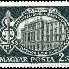 Sellos: HUNGRIA 1967 IVERT 1928 *** 3º CENTENARIO DE LA FACULTAD CIENCIAS POLITICAS EN BUDAPEST - MONUMENTOS. Lote 90941550