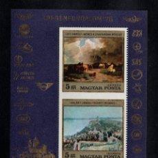 Sellos: HUNGRIA HB 124** - AÑO 1976 - TURISMO - PINTURA - OBRAS DE PINTORES HUNGAROS. Lote 96053411