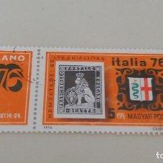 Sellos: SELLO USADO HUNGRIA. 1976. EXPOSICION FILATELIA ITALIA¨76 EN MILAN. Lote 100474899