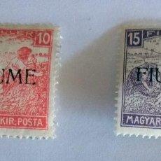 Sellos: 1918 5º SERIE CON SOBRECARGA FIUME OCUPACION ITALIA CON CHARNELA. Lote 110877971