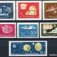Sellos: HUNGRIA 1959 IVERT 1266/72 *** AÑO GEOFISICO INTERNACIONAL. Lote 116546631