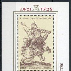 Sellos: HUNGRIA 1979 HB IVERT 140 *** 450º ANIVERSARIO DE LA MUERTE DEL PINTOR ALBERTO DURERO. Lote 118917983