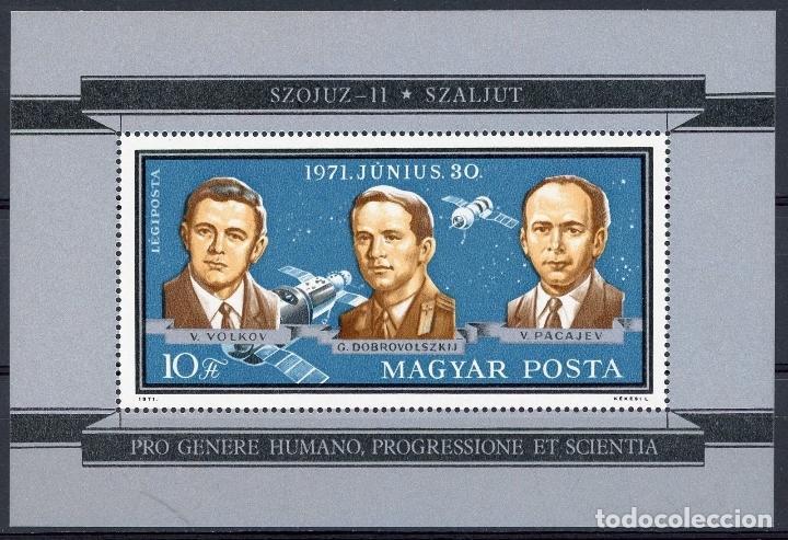 HUNGRIA 1971 HB IVERT 89 *** ASTRONAUTAS RUSOS - SOYOUZ XI - CONQUISTA DEL ESPACIO (Sellos - Extranjero - Europa - Hungría)