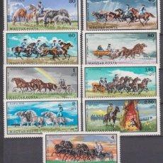 Sellos: HUNGRIA 1968 - CABALLOS - CHEVAUX - HORSES - YVERT Nº 1975-1983*. Lote 124449655