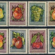 Sellos: HUNGRIA 1954 IVERT 1130/7 *** FERIA NACIONAL DE AGRICULTURA EN BUDAPEST - FLORA . Lote 125313811