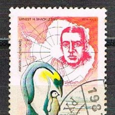 Sellos: HUNGRIA Nº 3931, 175 ANIVERSARIO DE LA EXPLORACIÓN ANTÁRTICA: ERNEST H. SHACKLETON, USADO. Lote 128367487