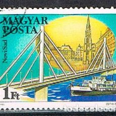 Sellos: HUNGRIA Nº 3756, PUENTES SOBRE EL DANUBIO: PUENTE DE NOVI SAD EN YUGOSLAVIA, USADO. Lote 128468239