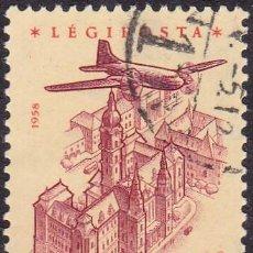 Sellos: 1958 - HUNGRIA - CORREO AEREO - YVERT 215. Lote 131188052