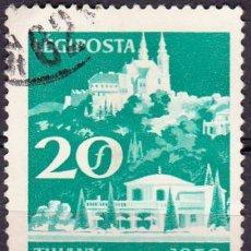 Sellos: 1959 - HUNGRIA - CORREO AEREO - TURISMO - LAGO BALATON - TIHANY - YVERT 224. Lote 131189728