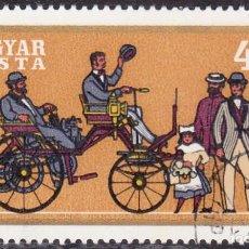 Sellos: 1970 - HUNGRIA - CORREO AEREO - COCHES HISTORICOS - DAIMLER 1886 - YVERT 317. Lote 131190364