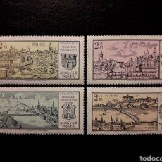 Sellos: HUNGRÍA. YVERT 2144/7. SERIE COMPLETA NUEVA SIN CHARNELA. BUDAPEST 71. PUENTES.. Lote 141974098