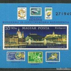 Sellos: HUNGRIA 1982 HB IVERT 162 *** DIA DEL SELLO Y 10º ANIV. CONFERENCIA SEGURIDAD Y COOPERACIÓN EUROPEA. Lote 145730002