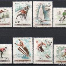 Sellos: HUNGRIA AÑO 1955 YV AEREO 181/88ºº CAMPEONATO DE EUROPA DE PATINAJE SOBRE HIELO - DEPORTES. Lote 147237598
