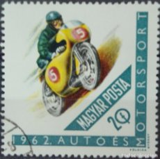 Sellos: HUNGRIA - 1 SELLO IVERT 1530 - DEPORTE DEL MOTOR 1962 - NUEVO SIN GOMA MATASELLADO. Lote 150613070