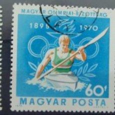 Sellos: HUNGRIA - 3 SELLOS IVERT 2120-1-2 - COMITE OLIMPICO 1970 - NUEVOS SIN GOMA MATASELLADOS. Lote 150635922