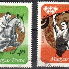 Sellos: HUNGRIA - 2 SELLOS IVERT PA-353-354 - JJ. OO. DE MUNICH 1972 - NUEVO SIN GOMA MATASELLADO. Lote 150644826