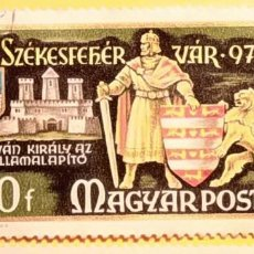 Sellos: HUNGRIA - MAGIAR POSTA - Nº 2806 - MILENARIO FUNDACIÓN SZEKESFEHERVAR - REY SAN ESTEBAN.. Lote 151393562