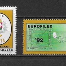 Sellos: HUNGRIA 1992 ** NUEVO - 2/34. Lote 152619862