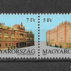 Sellos: HUNGRIA 1991 ** NUEVO SC PAIR, #3284-3285 10.00 ARQUITECTURA - 2/40. Lote 153472082