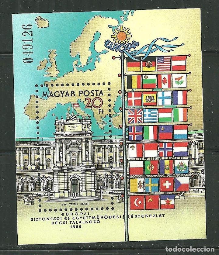 HUNGRIA 1986 HB IVERT 189 *** CONFERENCIA SOBRE SEGURIDAD Y COOPERACIÓN EN EUROPA EN VIENA (Sellos - Extranjero - Europa - Hungría)