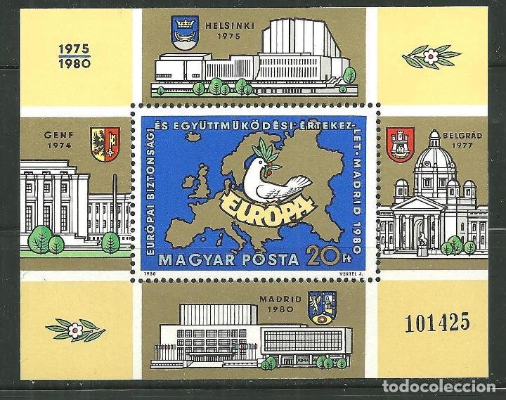 HUNGRIA 1980 HB IVERT 151 *** CONFERENCIA SOBRE LA SEGURIDAD Y LA COOPERACIÓN EN EUROPA (Sellos - Extranjero - Europa - Hungría)