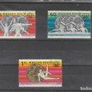 Sellos: HUNGRIA 1976 - YVERT NRO. 2531-33 - MATASELLADOS. Lote 159797698