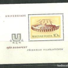 Sellos: HUNGRIA 1965 HB IVERT 55 *** CAMPEONATOS DEPORTIVOS UNIVERSITARIOS - UNIVERSIADA-65. Lote 159948602