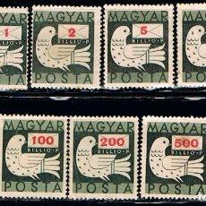 Sellos: HUNGRIA Nº 945, PALOMA Y CARTA, USADO. Lote 168740144