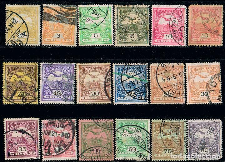 HUNGRIA Nº 68, TURUL SOBREVOLANDO LA CORONA, AÑO 1900, USADOS, SERIE CORTA, ENVIO CERTIFICADO GRATIS (Sellos - Extranjero - Europa - Hungría)