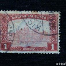 Sellos: HUNGRIA, MAGYAR KIR POSTA, 1 CORONA, AÑO 1916.. Lote 169822672