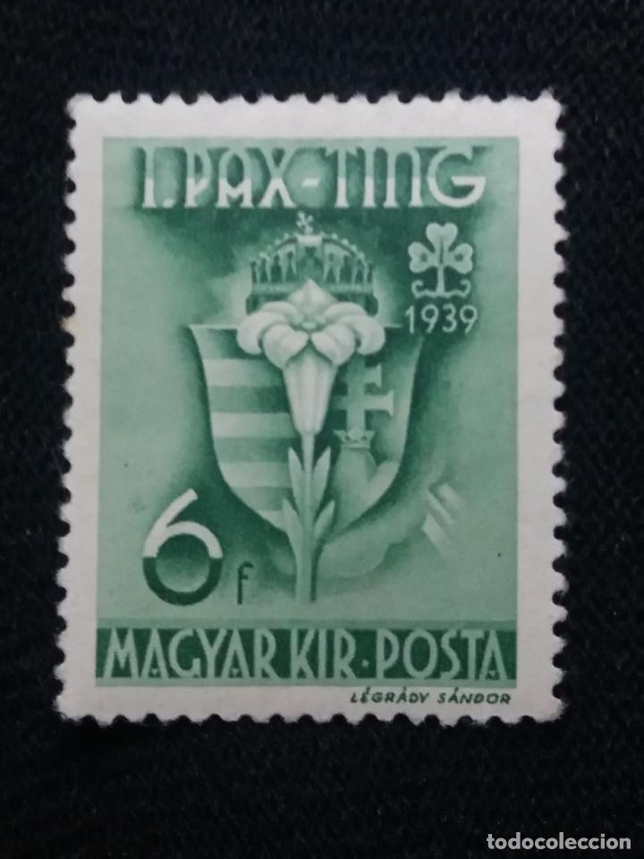 HUNGRIA, MAGYAR KIR POSTA, 6 F, AÑO 1939. NUEVO (Sellos - Extranjero - Europa - Hungría)