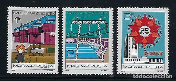 HUNGRIA 1979 IVERT 2663/65 *** 30º ANIVERSARIO DEL COMECON - INDUSTRIAS (Sellos - Extranjero - Europa - Hungría)