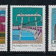 Sellos: HUNGRIA 1979 IVERT 2663/65 *** 30º ANIVERSARIO DEL COMECON - INDUSTRIAS. Lote 171582315