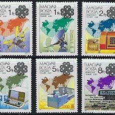Sellos: HUNGRIA 1983 IVERT 2875/80 *** AÑO MUNDIAL DE LAS COMUNICACIONES. Lote 171584954