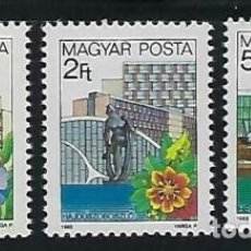 Sellos: HUNGRIA 1983 IVERT 2884/86 *** SERIE BÁSICA - ESTACIONES DE RECREO HUNGARAS (I). Lote 171585195